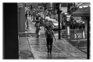 Pluie et parapluie