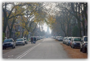 Les rues d'automne